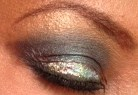 Lit Cosmetics Glitter along with Magnolia Makeup in Caramel and OCC in Distortion
